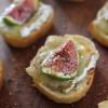 Toasts à la Tome corse et aux Figues blanches