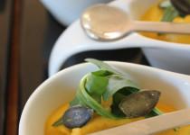 Mousse fromagère de Carottes et de Roquette