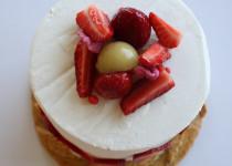 Gâteau Rhubarbe, Rose & Fraise
