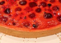 Tarte Clafoutis Rose: Cerises, Groseilles & Rose