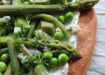 Tarte feuilletée fraîche aux Légumes Verts