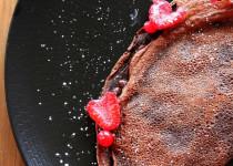 Crêpe soufflée au Chocolat et aux Framboises