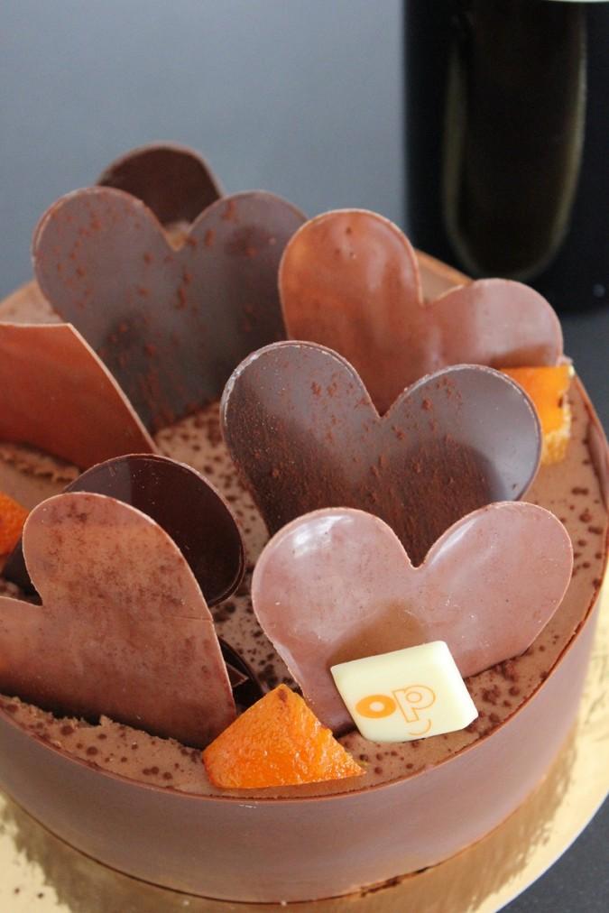 Gâteau de St Valentin 2012 - Chocolat & Orange