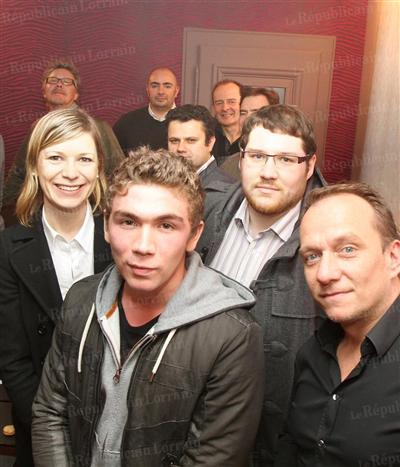 Concours du Meilleur Macaron Amateur à Metz - Janvier 2012 - avec Franck Fresson, Jérémy et Clément (les 2 autres finalistes)